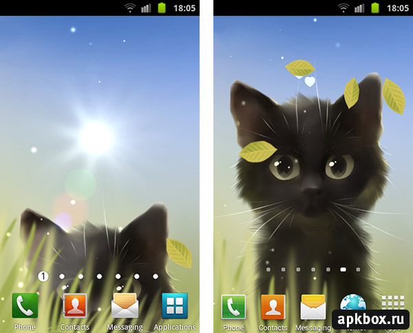 Коты на синем фоне арк на андроид