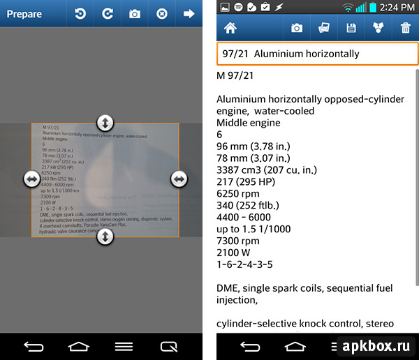 Scanthing (OCR & PDF Creator). Распознавание текста на Android