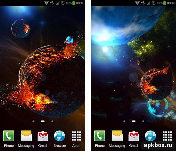 Обои космоса на телефон андроид