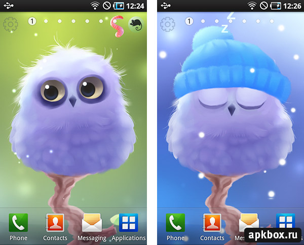 Polar Owl Liwe Wallpaper