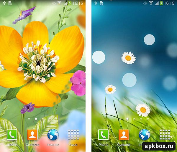 Обои с цветами для андроид