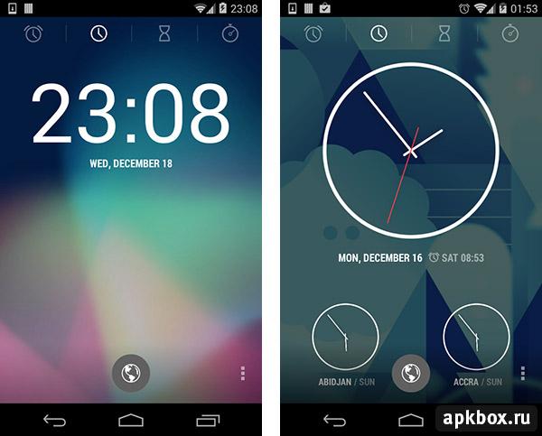 часы виджет на андроид
