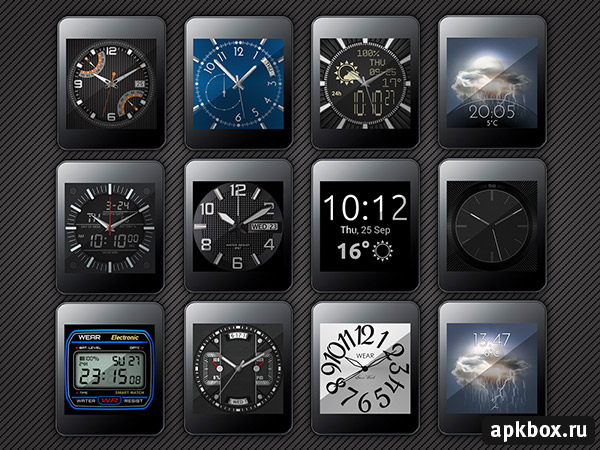 Clocki. Wear Watch Face Pack для часов