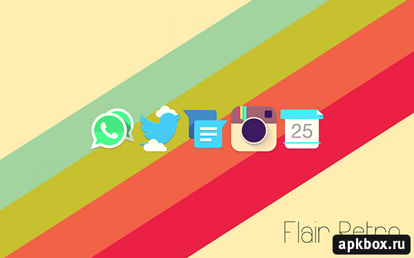 Flair Retro Icon Pack. Тема для Андроид