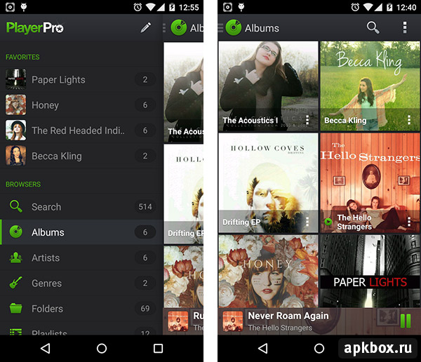 PlayerPro Music Player для Андроид