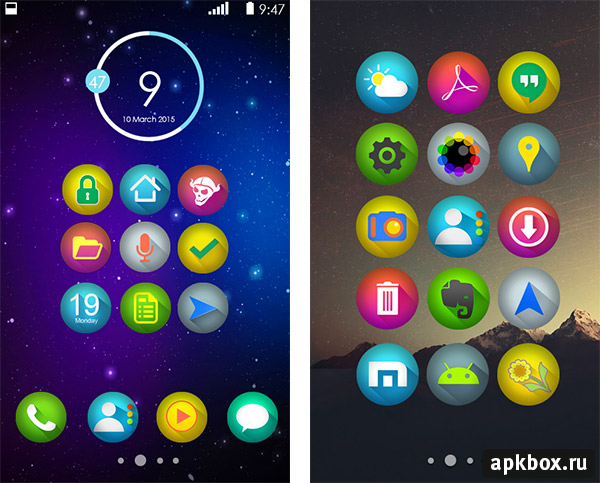 Zotro Icon Pack. Тема для Android 4.2, 4.4 и выше