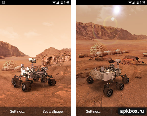 My Mars. 3D Live Wallpaper for Android
