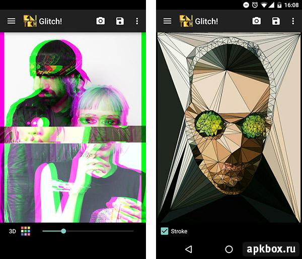 Glitch приложение на андроид
