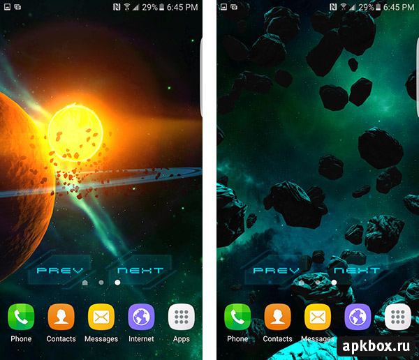 3D Galaxy Pack Live Wallpaper