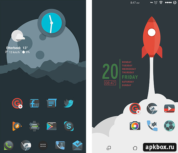 Moonrise Icon Pack. Тема для Android