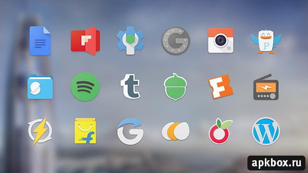 Teslacons Icon Pack. Тема для Android