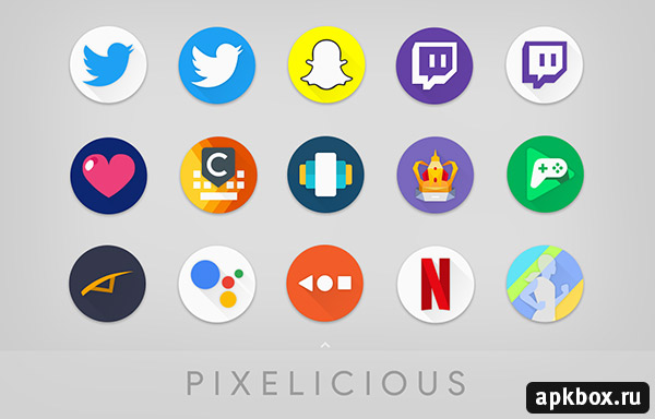 Pixelicious Icon Pack. Тема в стиле Google Pixel