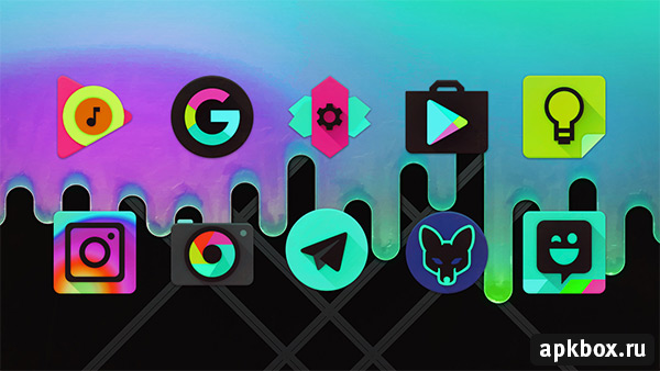 Black Light Icon Pack