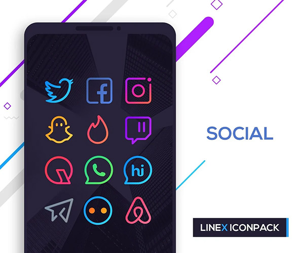 LineX Icon Pack
