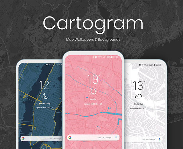 Cartogram Live Map Wallpapers