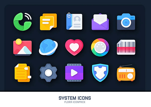 Flora Material Icon Pack