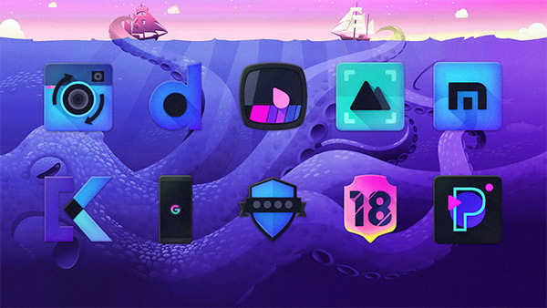Kraken Dark Icon Pack