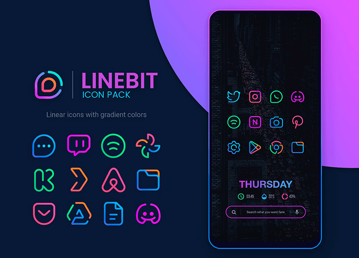 Linebit Icon Pack