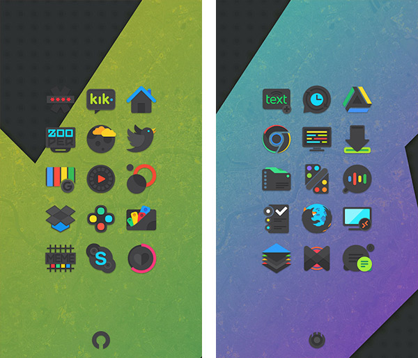 Crispy Dark Icon Pack